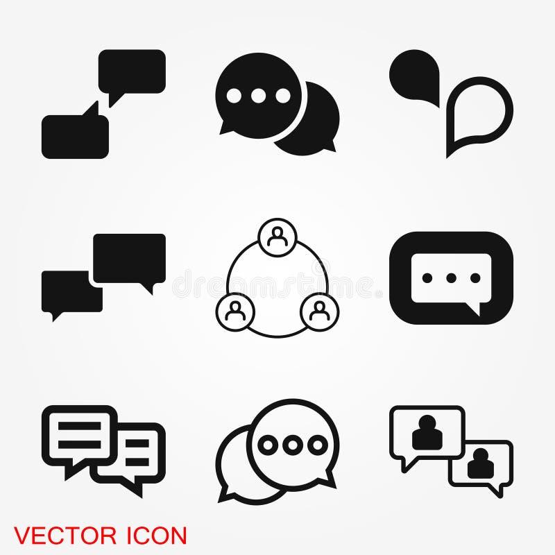 Kommunikationssymbol Vektor för symbol för samling för symbol för datakommunikation vektor illustrationer