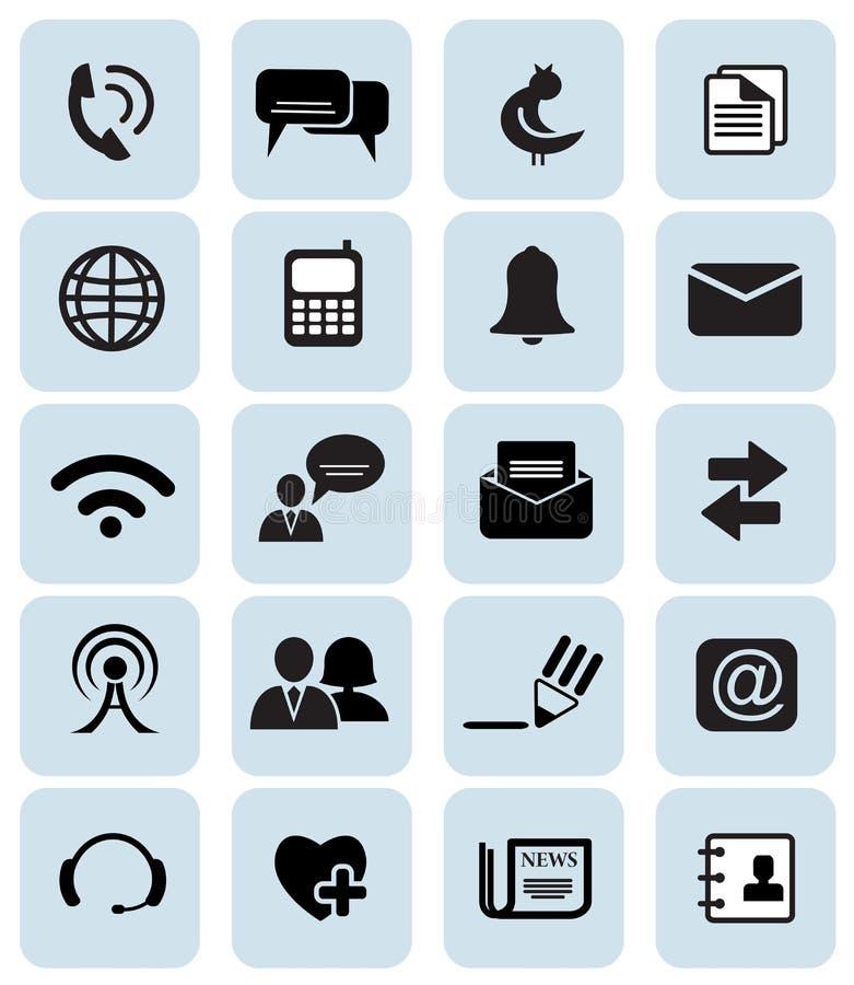 Kommunikationssymboler vektor illustrationer