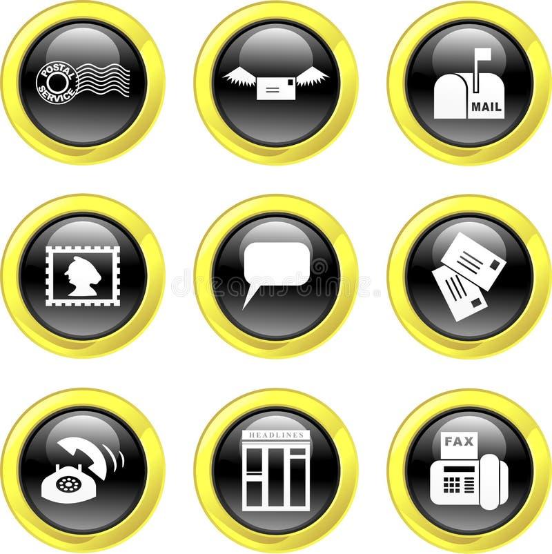 kommunikationssymboler stock illustrationer