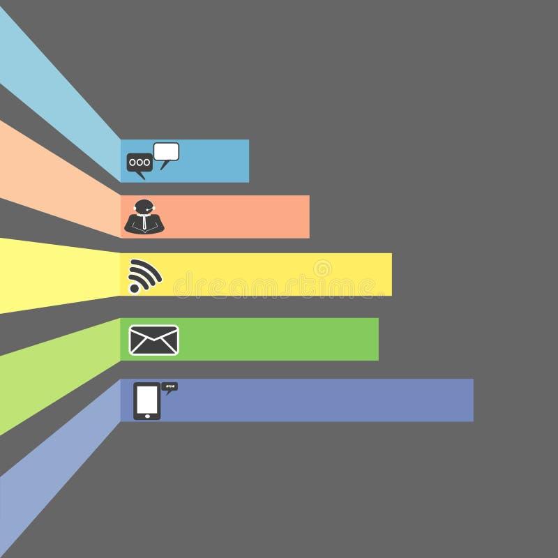 Kommunikationssymboler sänker design royaltyfri illustrationer