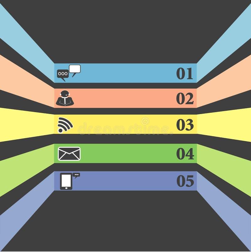 Kommunikationssymboler sänker design stock illustrationer