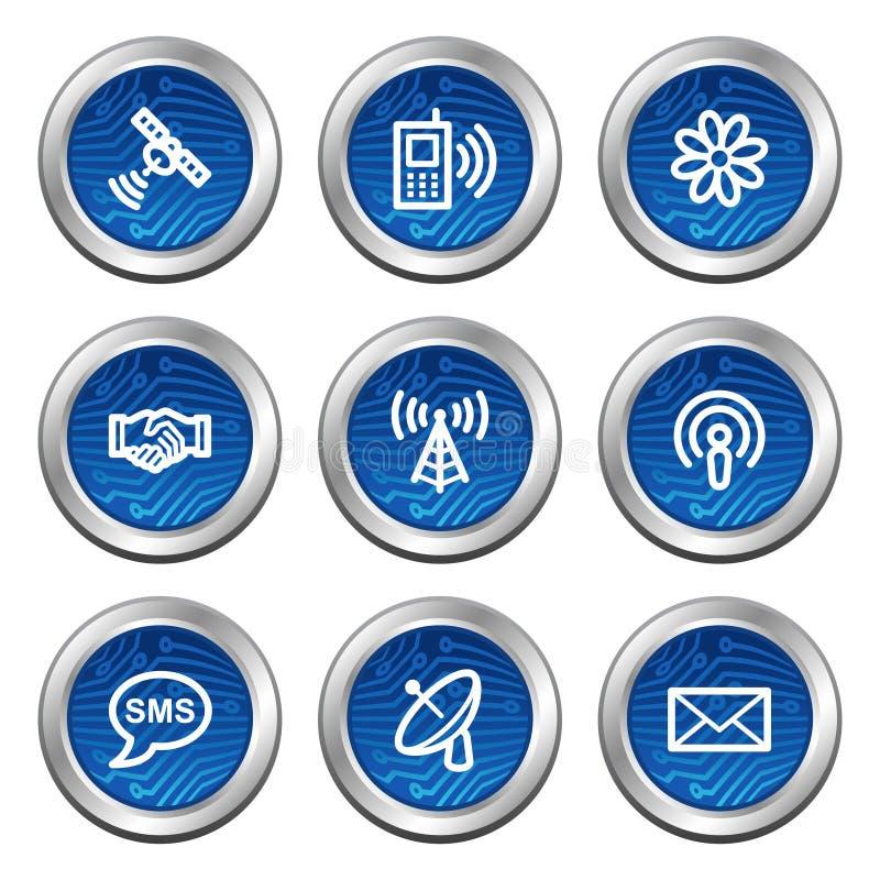 kommunikationssymbolsrengöringsduk stock illustrationer