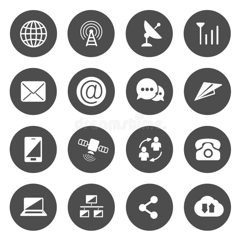 Kommunikationssymbolsvektor royaltyfri illustrationer