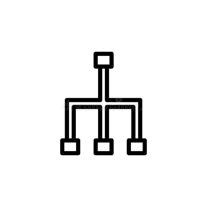 kommunikationsteckensymbol Beståndsdel av minimalistic symboler för mobila begrepps- och rengöringsdukapps Tunn linje symbol för  stock illustrationer