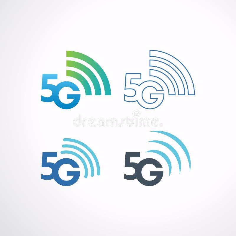 kommunikationsteknologi för symbol 5G, vektorillustration vektor illustrationer