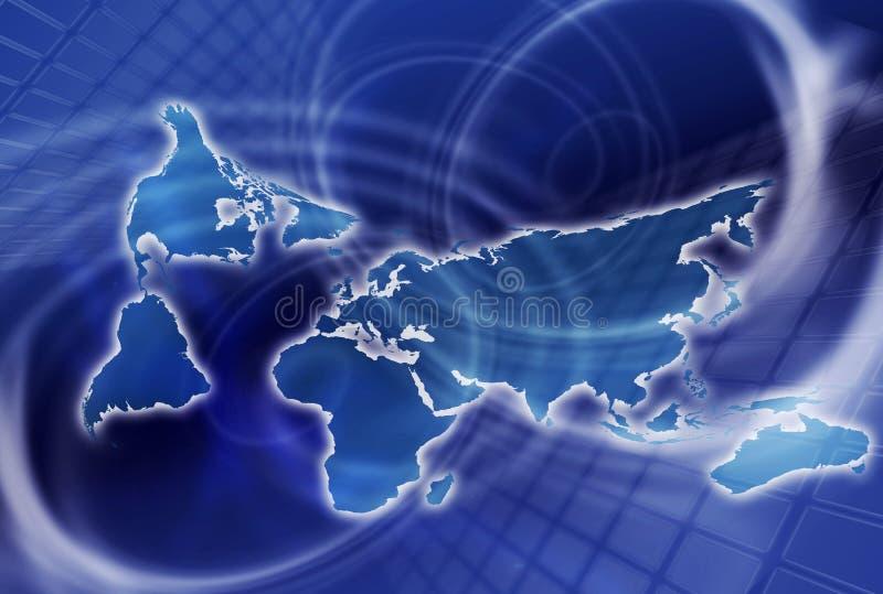 kommunikationsvärld vektor illustrationer