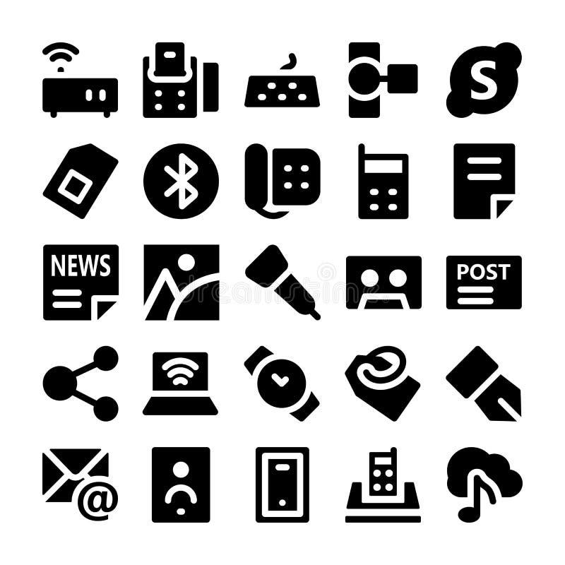 Kommunikationsvektorsymboler 8 royaltyfri illustrationer