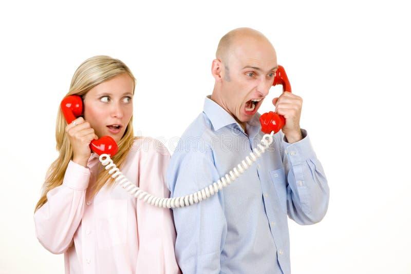 Kommunikationszusammenbruch stockbild