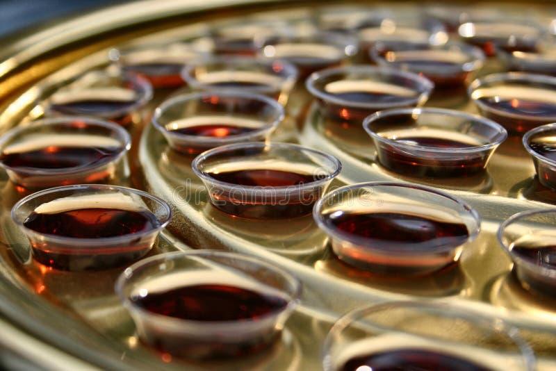 Kommunion-Wein stockbilder