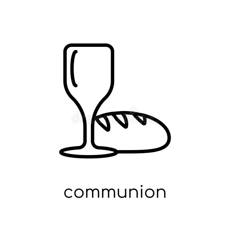 Kommunions-Ikone Modische moderne flache lineare Vektor Kommunionsikone lizenzfreie abbildung