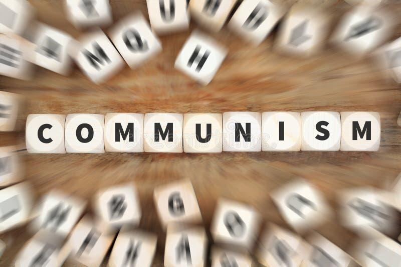 Kommunismussozialismuspolitikfinanzgeldwirtschafts-Würfel busine lizenzfreies stockfoto