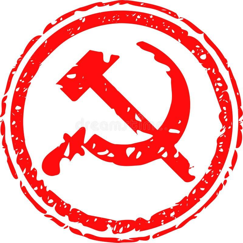 kommunist stock illustrationer