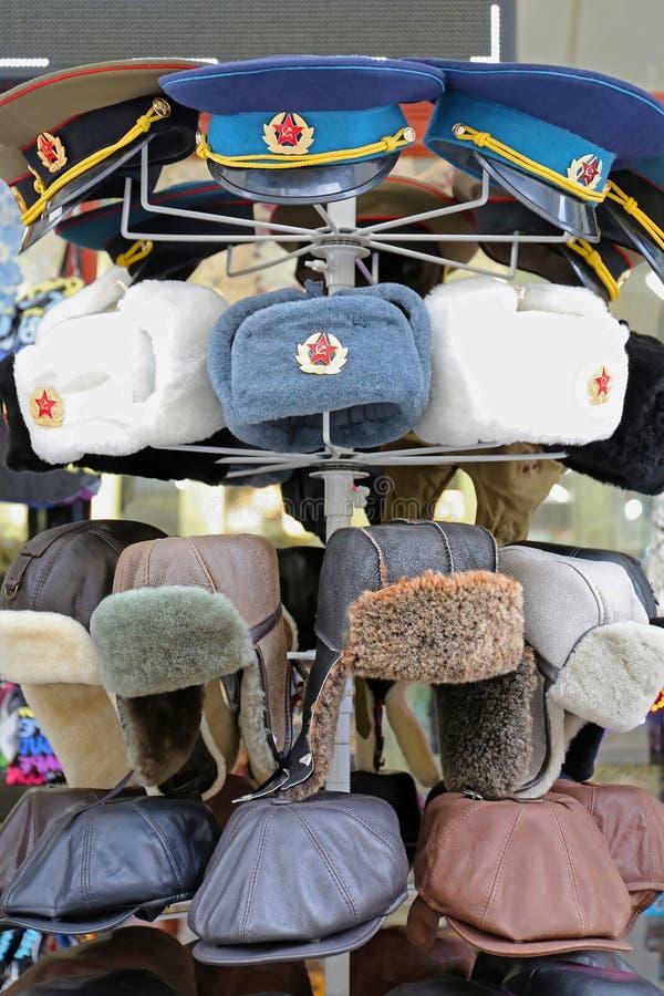 Kommunistische Hüte lizenzfreie stockfotos