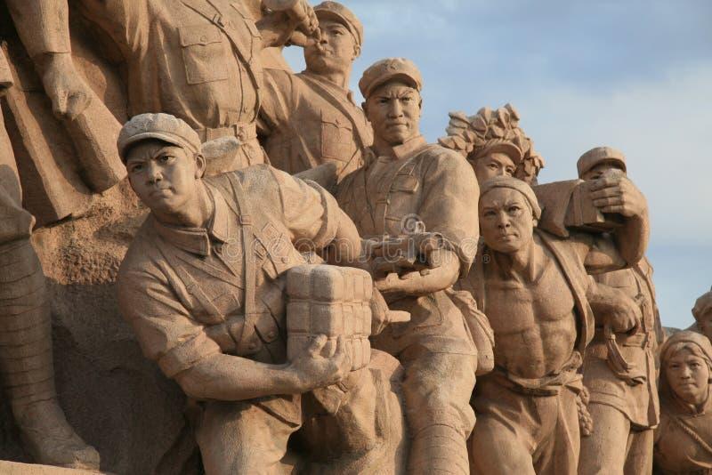 kommunistisk monument peking royaltyfri foto
