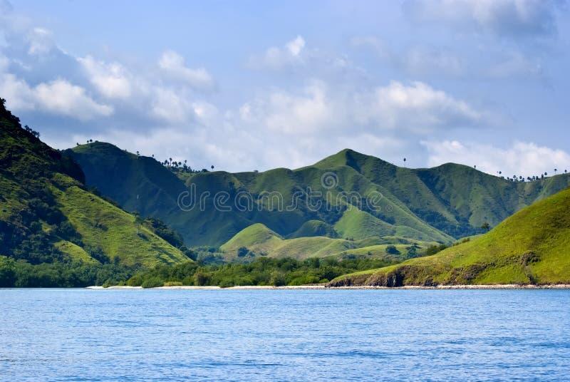komodo острова стоковые изображения rf