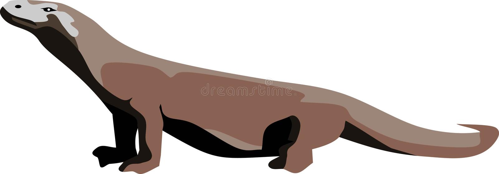 Komodo Dragon Reptile vector illustratie