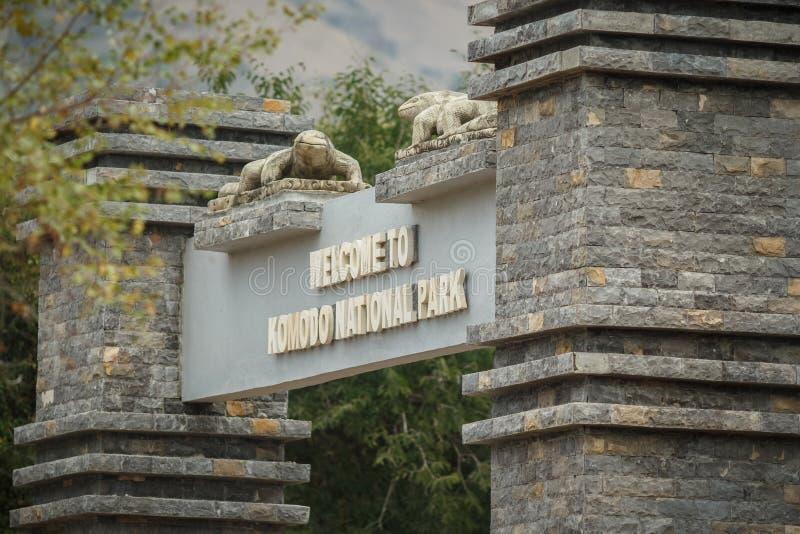 Komodo nationalpark royaltyfria bilder