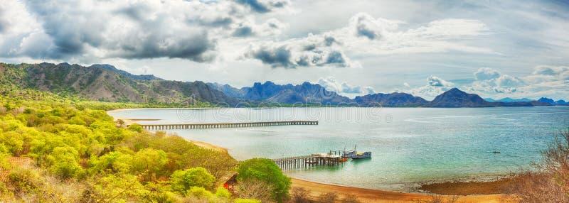 Komodo panorama royalty free stock image