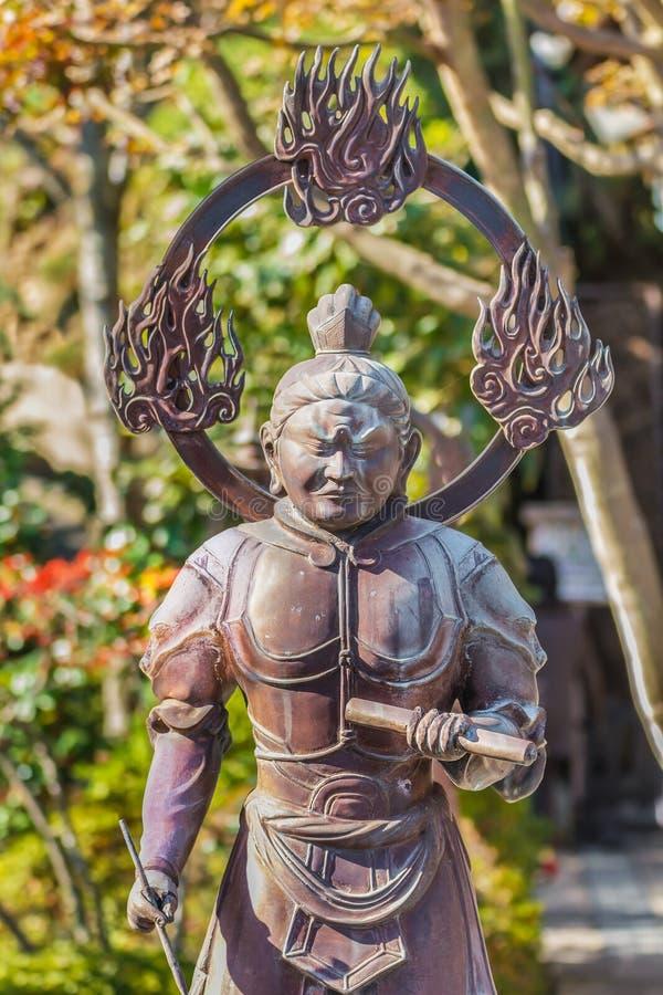 Komokuten- de het Westenbeschermer van Boedha stock afbeelding