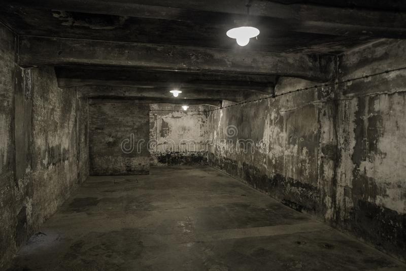 Komora gazowa przy koncentracyjnym obozem w Auschwitz Ja, Polska zdjęcie royalty free