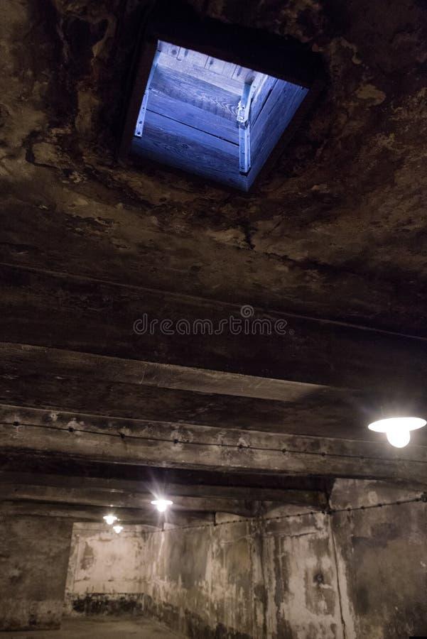 Komora gazowa przy koncentracyjnym obozem w Auschwitz Ja, Polska obraz royalty free