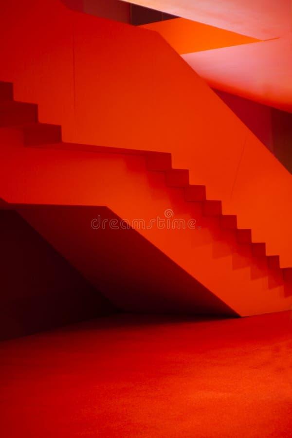 komory wewnątrz czerwony obrazy stock