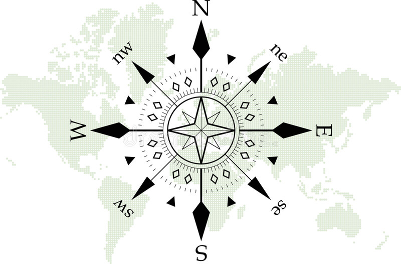 Kompaß vektor abbildung