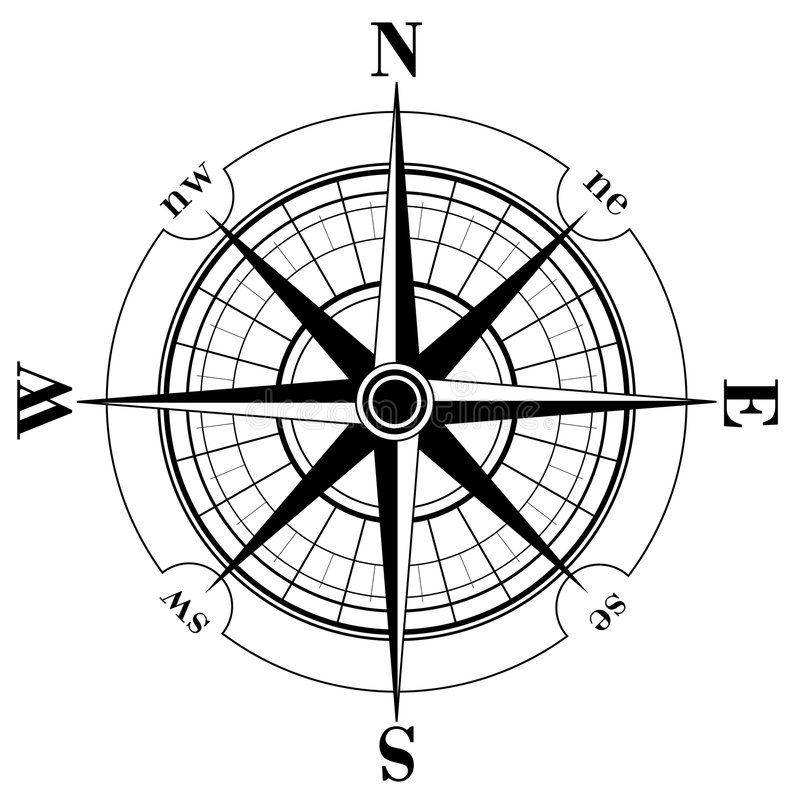 Kompaß Rose stock abbildung