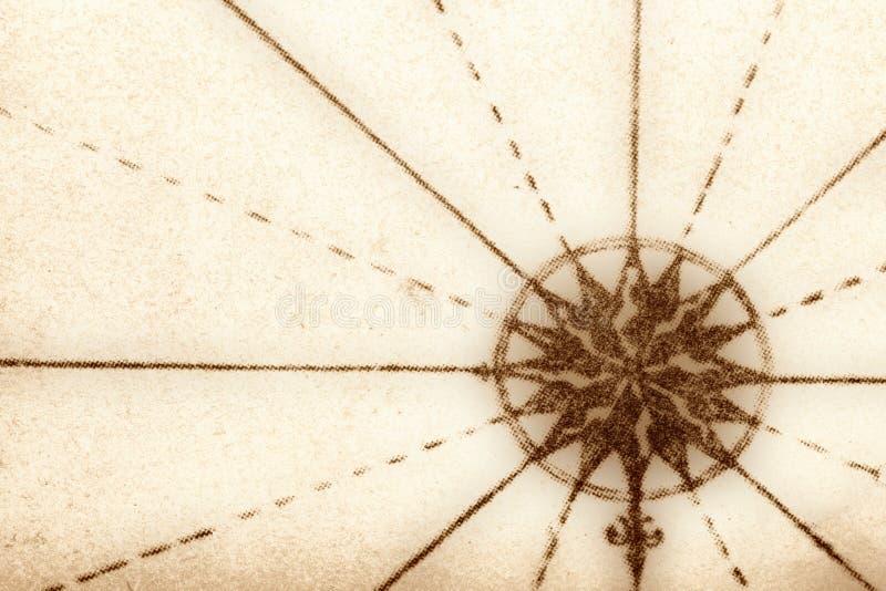 Kompaß vom alten Buch stockfotografie