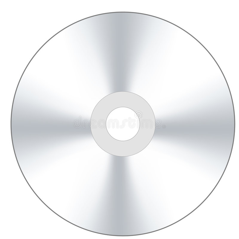 kompakt disk royaltyfri illustrationer