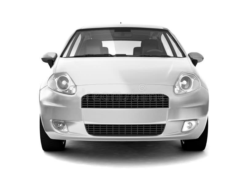 kompakt främre silversikt för bil royaltyfri illustrationer