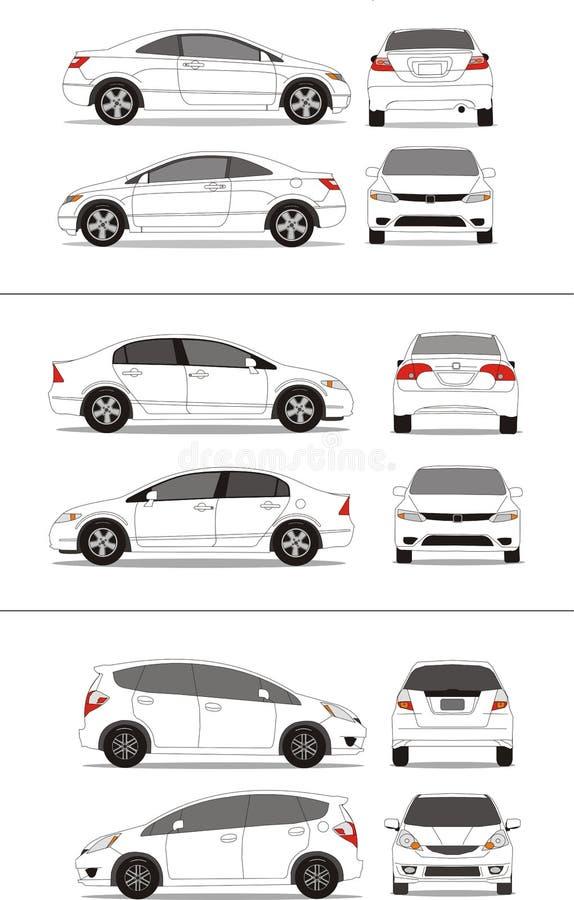 kompakt japan för bil stock illustrationer