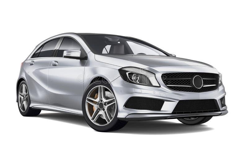 kompakt silver för bil vektor illustrationer