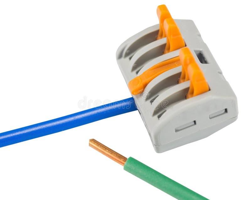 Kompakt splitsa kontaktdon med förbindelsetråd royaltyfri bild