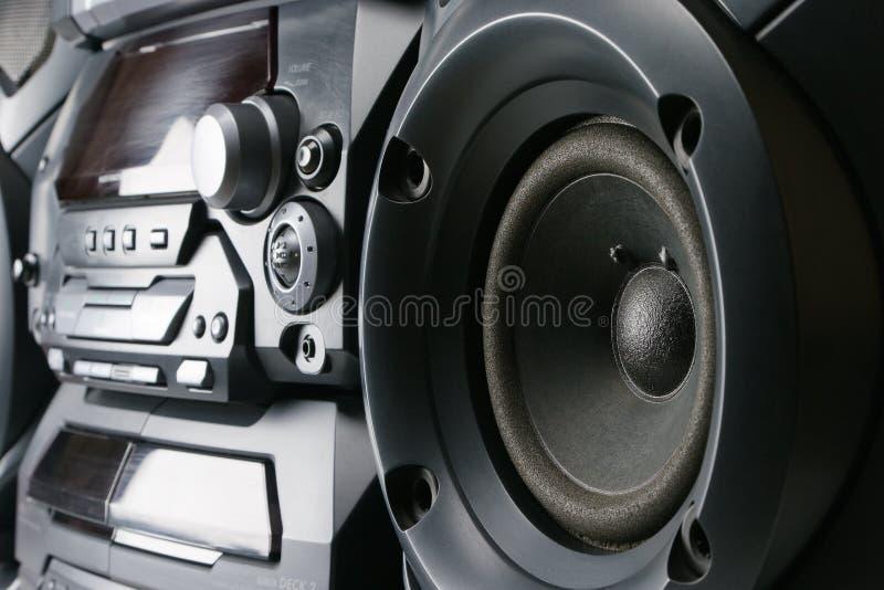 kompakt stereo- system royaltyfri fotografi
