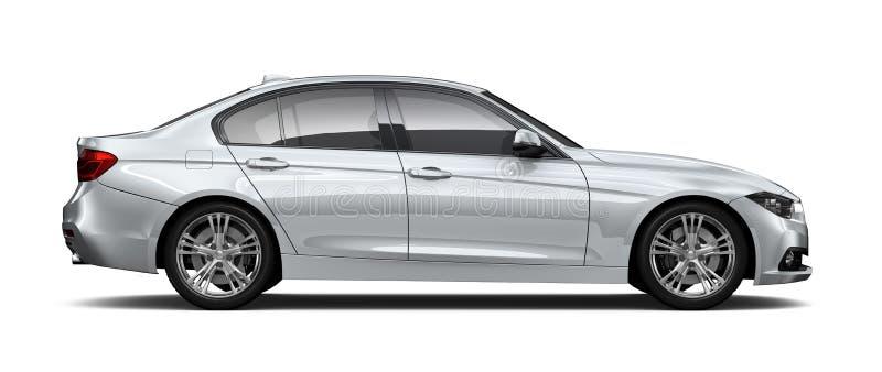 Kompakt utövande bil- sidosikt vektor illustrationer