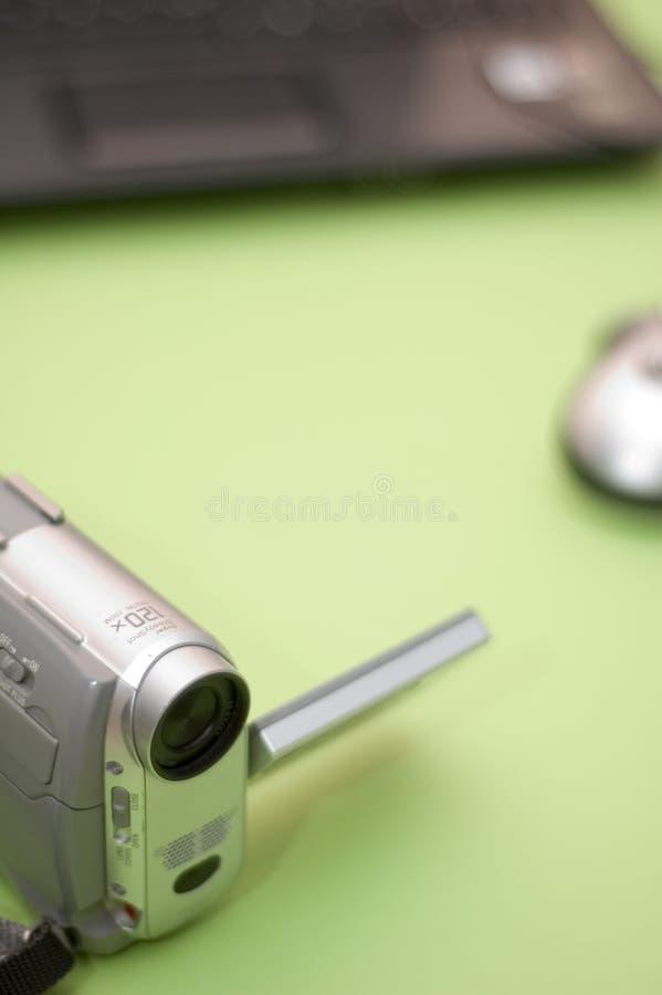 kompakt video för kamera arkivfoton