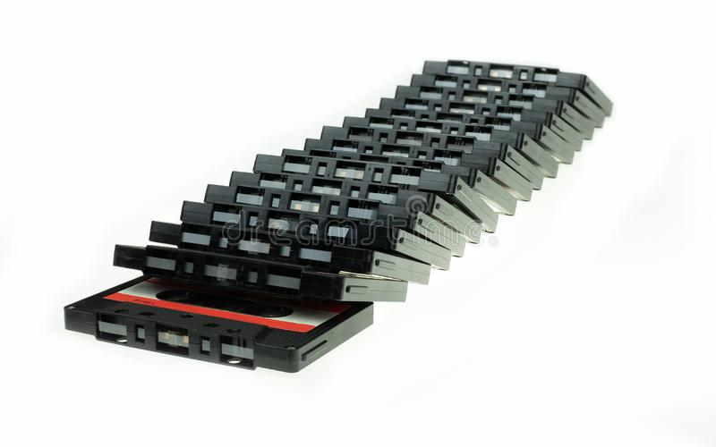 Kompakte Kassette der Stapelweinlese lizenzfreie stockfotos