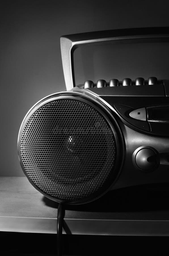 Kompakte Stereosystem-CD und Kassettenrecorder stockfotos