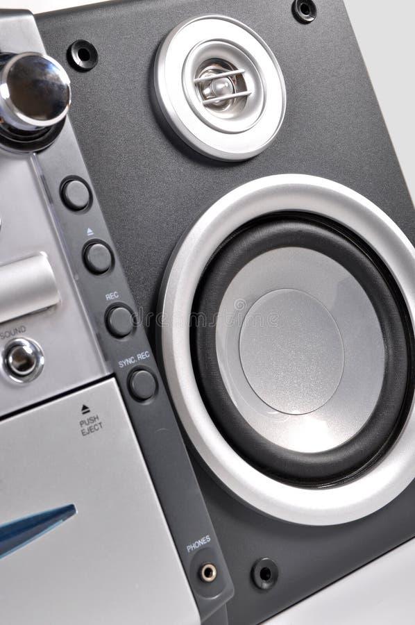 Kompaktes Stereosystem und Sprecher lizenzfreie stockfotos