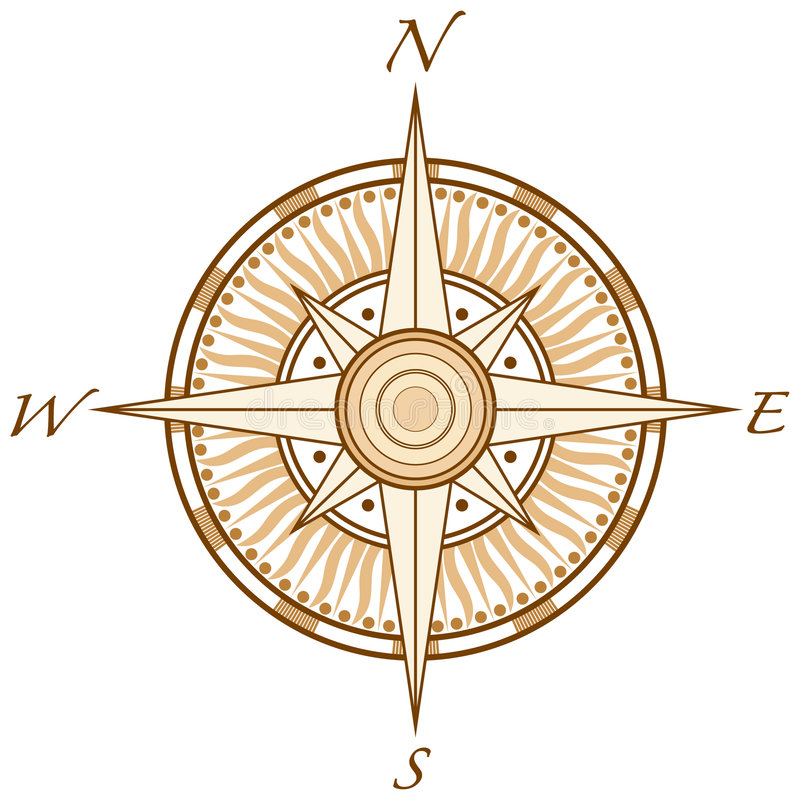 kompas. royalty ilustracja