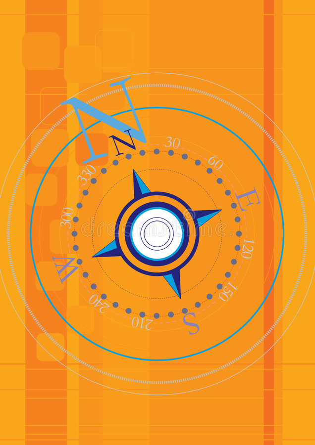 kompas. ilustracja wektor