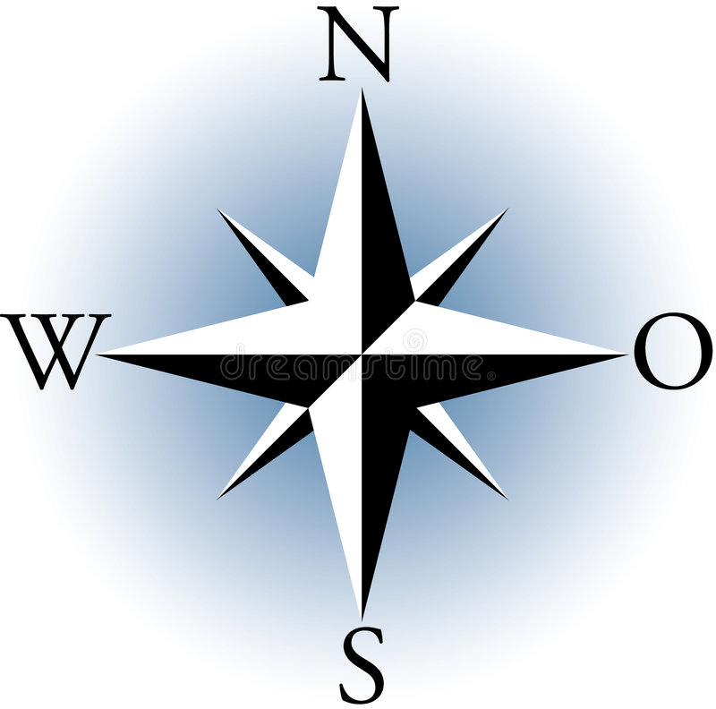Kompas. stock illustratie