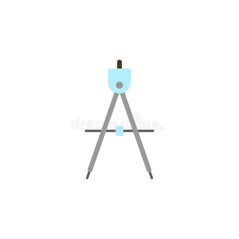 kompas barwiona ikona Element edukacji ilustracji ikona Premii ilo?ci graficzny projekt Znaki i symbol inkasowa ikona dla ilustracja wektor