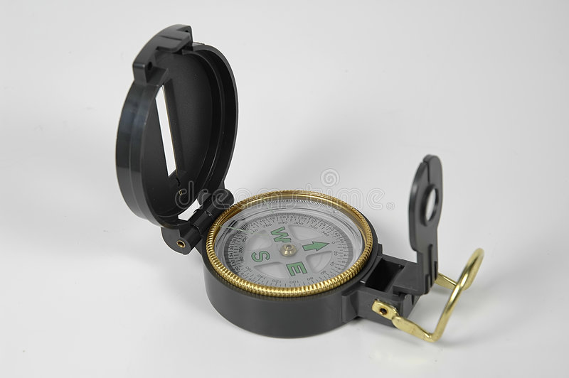 kompas białe tło obrazy stock