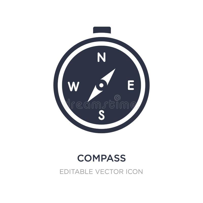 kompas die zuidoostenpictogram op witte achtergrond richten Eenvoudige elementenillustratie van Algemeen concept royalty-vrije illustratie