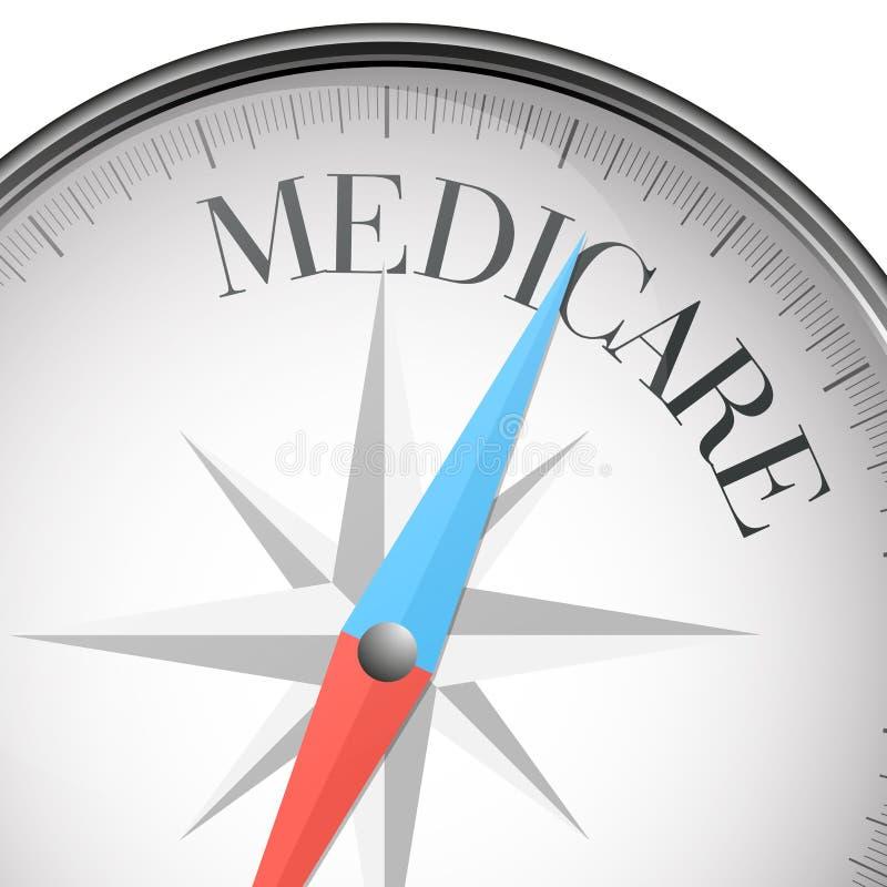 Kompas gezondheidszorg voor bejaarden vector illustratie