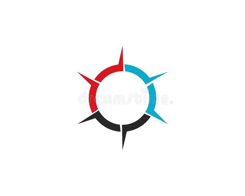 Kompas Logo Template vector illustratie