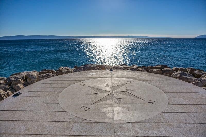 Kompas morzem obraz royalty free