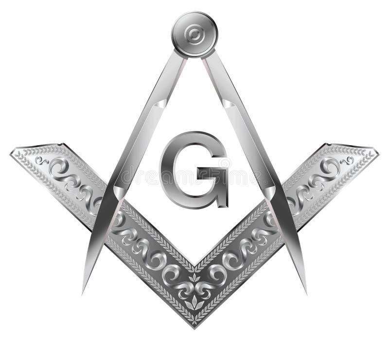 Kwadrat & kompas royalty ilustracja